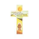 Kinderkreuz mit Tonengel - Wo ich gehe, wo ich stehe