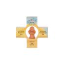 Kinderkreuz Gott schütze mit Engel Tonengel
